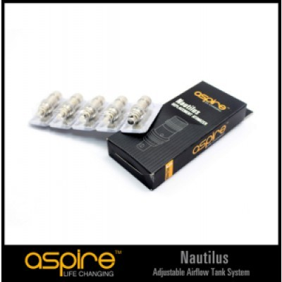 Aspire Mini Nautilus/Nautilus BVC Replacement Coil 5/PK 1.8ohm